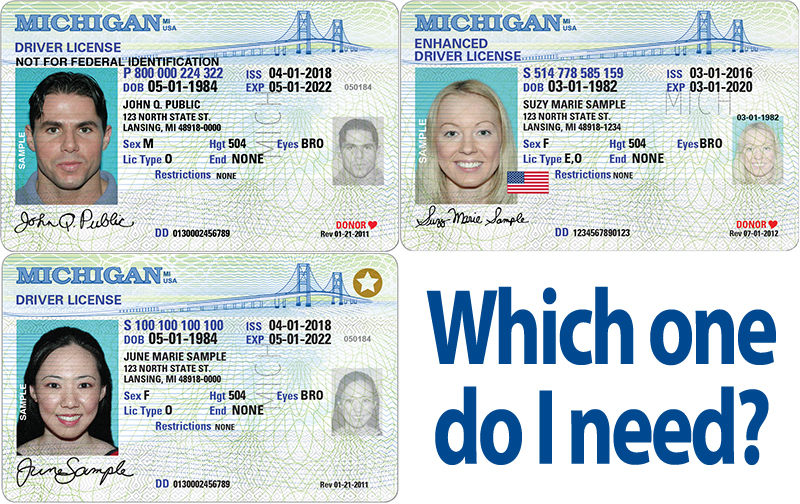 which one do i need? standard, enhanced & real id-compliant michigan